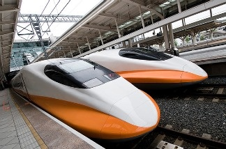 The Taiwan High Speed Rail, which began service in January of 2007, runs along the Southern Taiwanese coast. According to THSR press release, the rail service emits only 11% of the carbon dioxide emitted by private cars carrying the same number of passengers (25% for buses).