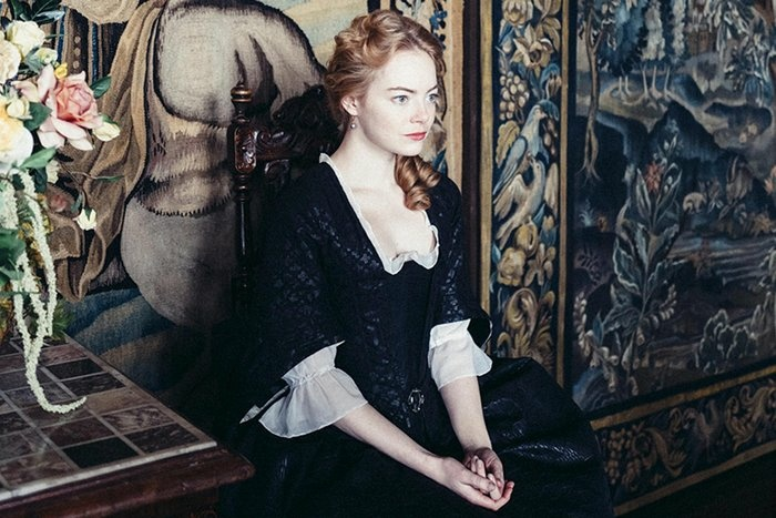 Emma Stone stars in the period film,