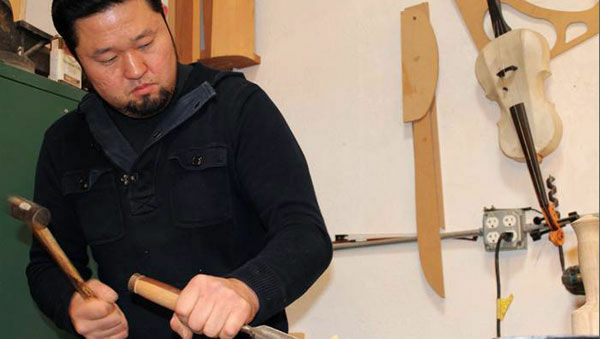 Sung Kim in his San Rafael workshop.