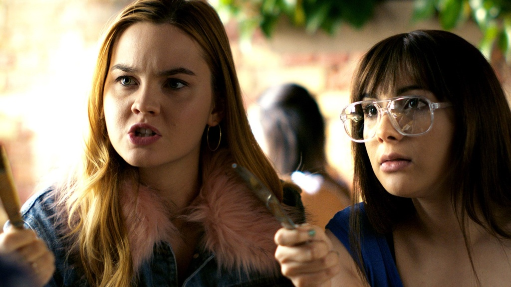 Liana Liberato and Hannah Marks in Banana Split.