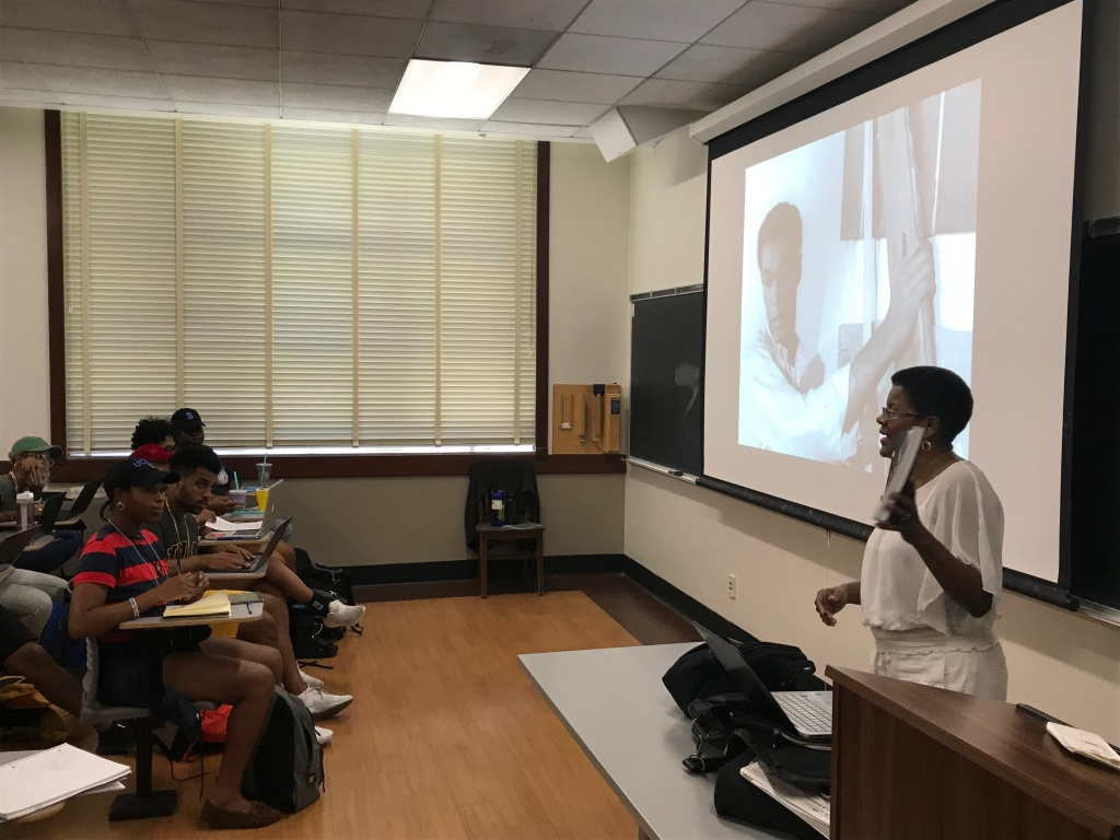 UCLA professor  Tananarive Due, who's teaching a class called The Sunken Place: Racism, Survival, and Black Horror Aesthetic,