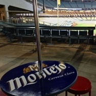 Montejo makes its U.S. debut at Dodger Stadium this weekend. An area in right field has been rebranded as the Montejo bar, instead of the Bud Light bar.