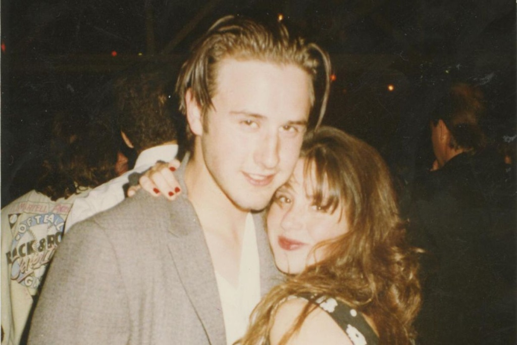 David Arquette and Soleil Moon Frye pictured in the 1990s in