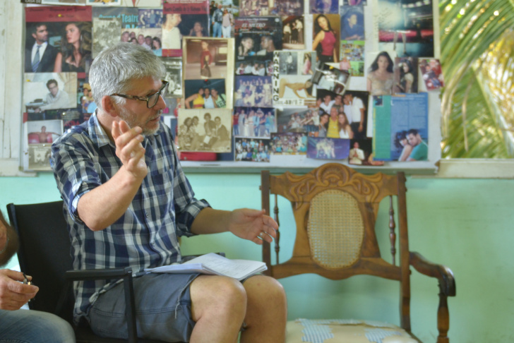 Director Paddy Breathnach on the set of VIVA, a Magnolia Pictures release.
