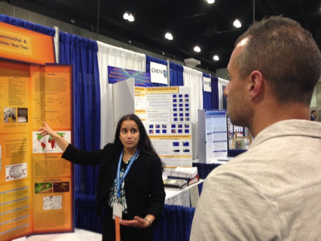 Shreya Ramayya, a sophomore at Palos Verdes Peninsula High School, won two prizes at the Intel International Science and Engineering Fair at the Los Angeles Convention Center.