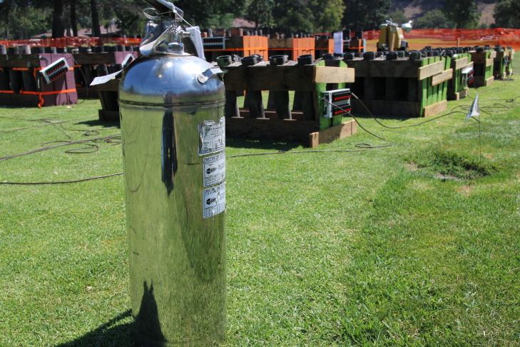 Launch stations will send 2014 mortars into the sky during the Independence Day fireworks show at the Rose Bowl.