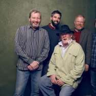 "(L-R) Ken Kwapis, Bill Holderman, Bill Bryson, Nick Offerman, and Chip Diggins from ""A Walk in the Woods"" pose for a portrait at the Village at the Lift Presented by McDonald's McCafe during the 2015 Sundance Film Festival on January 24, 2015 in Park City, Utah"