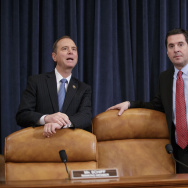 House Intelligence Committee chairman Rep. Devin Nunes, R-Calif., right, and ranking member Rep. Adam Schiff, D-Calif., left, take a break from a hearing with FBI Director James Comey on Capitol Hill in Washington, Monday, March 20, 2017, on allegations of Russian interference in the 2016 U.S. presidential election. (AP Photo/J. Scott Applewhite)