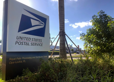 The Opa-Locka, Florida, postal center on October 26, 2018, is the focus of an investigation into the mail bombs sent to Democratic officials and supporters and intelligence leaders