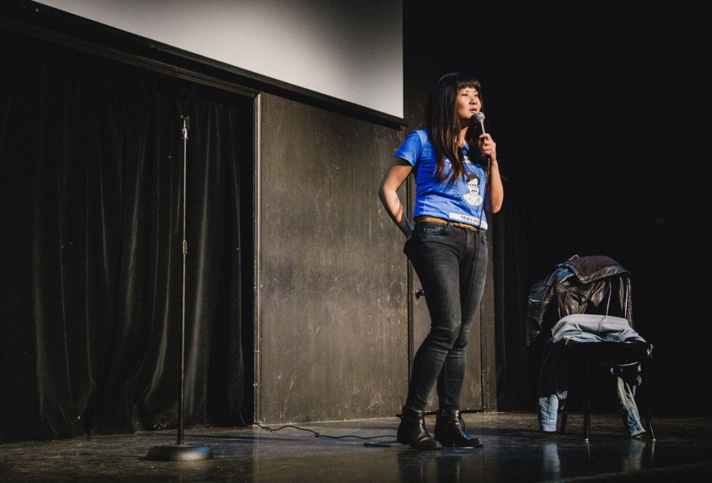Comedian Jenny Yang opens Asian AF with a set that touches on everything from the presidential election to Asian-American civil rights groups.