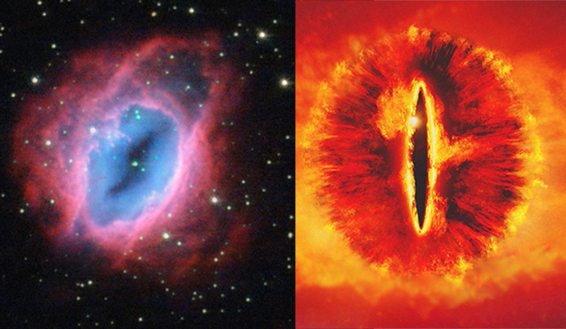 Separated At Birth Eso 456 67 And Eye Of Sauron