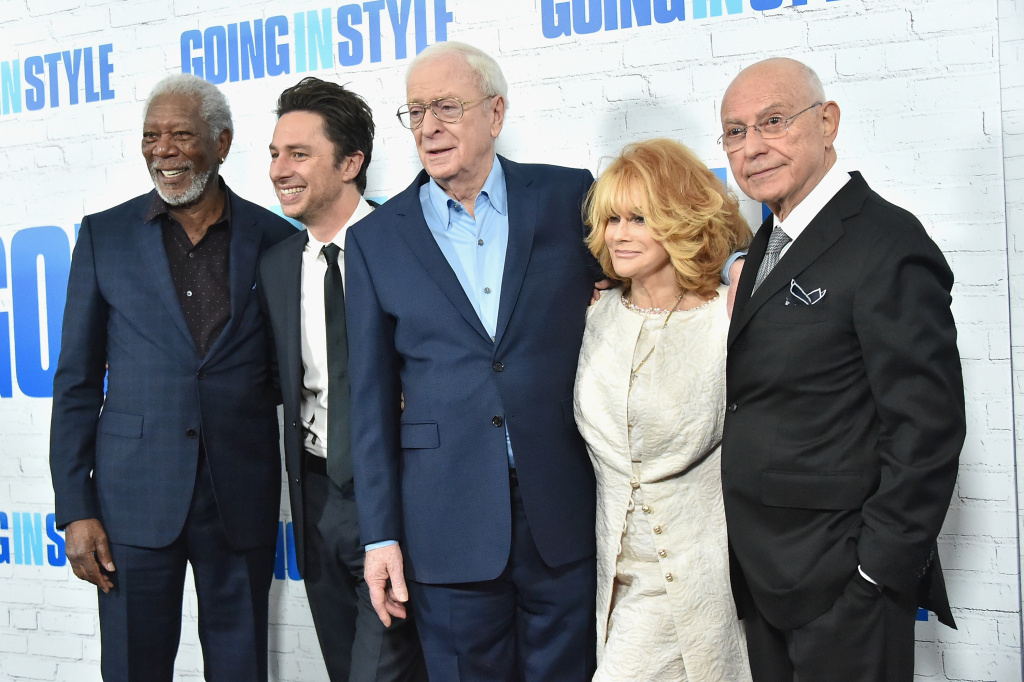 Morgan Freeman, Zach Braff, Michael Canie, Ann-Margret, and Alan Arkin attend the