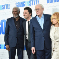 "Morgan Freeman, Zach Braff, Michael Canie, Ann-Margret, and Alan Arkin attend the ""Going In Style"" New York Premiere at SVA Theatre on March 30, 2017 in New York City."