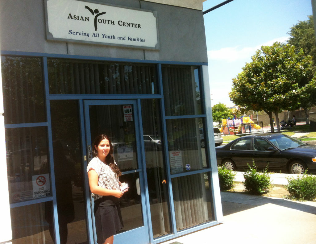 Aime Chambert runs a cooling center at Asian Youth Center in San Gabriel.