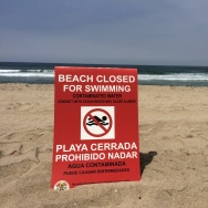 beach oil closure