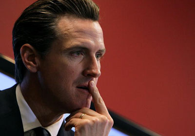 Then San Francisco Mayor Gavin Newsom, in 2010.