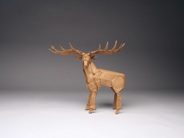 Bull Moose figure crafted by Robert Lang.