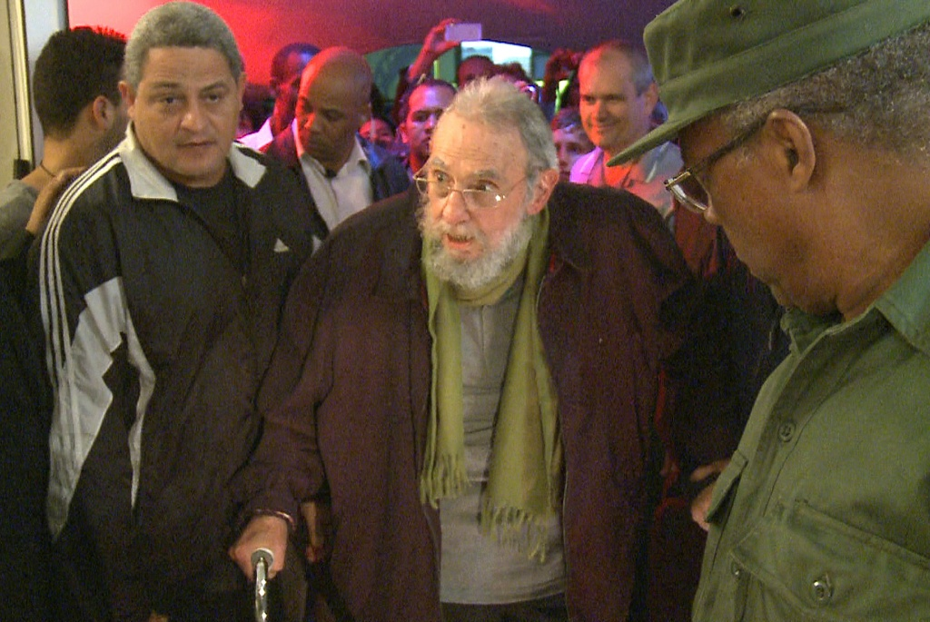 File: Still grab from a video taken on January 8, 2014 of former Cuban president Fidel Castro attending the inauguration of the nonprofit cultural centre Kcho Romerillo, Laboratory for Art in Havana. Former Cuban leader Fidel Castro ended his long silence over his country's decision to restore diplomatic ties with the United States, writing that he backs the negotiations even though he distrusts politics in Washington.