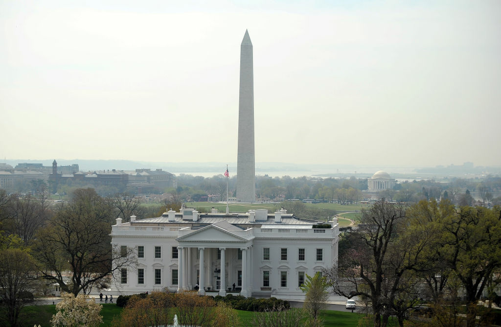 The White House in Washington, DC, and the Washington Monument are pictured on April 7, 2011. agreement on a number, no agreement on the policy issues,