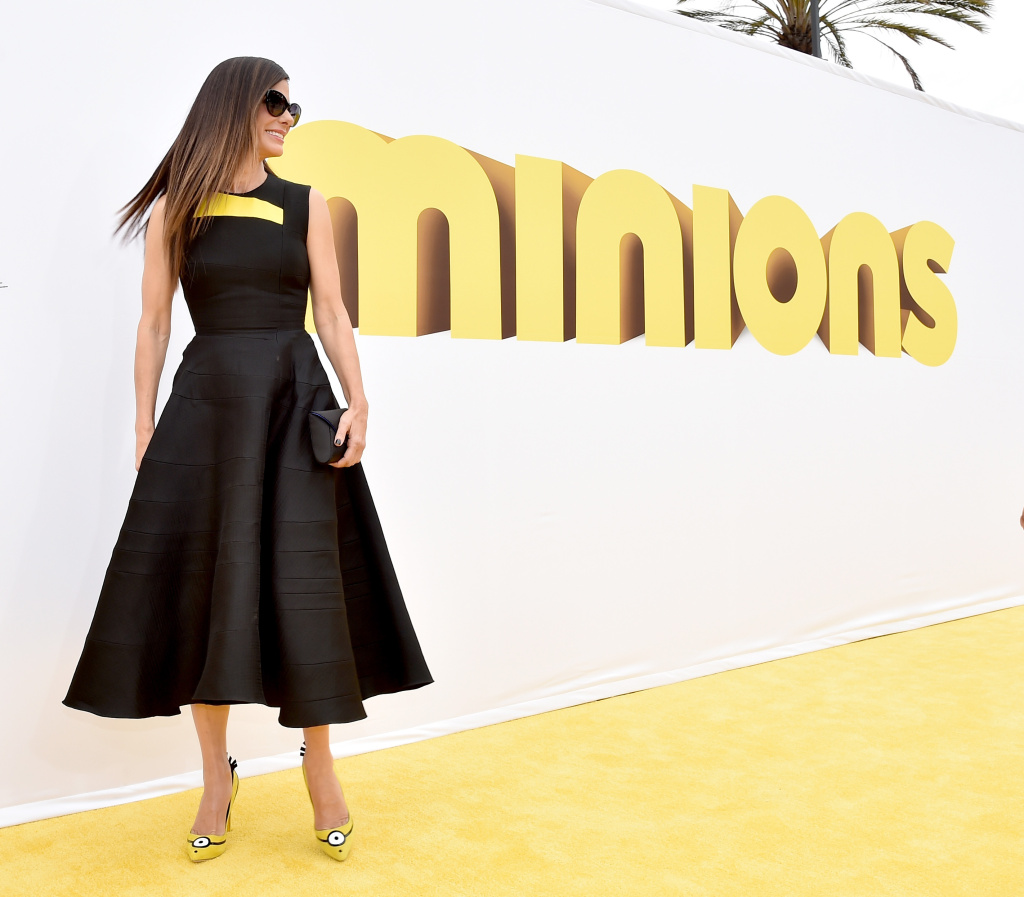 Actress Sandra Bullock arrives at the premiere of Universal Pictures and Illumination Entertainment's