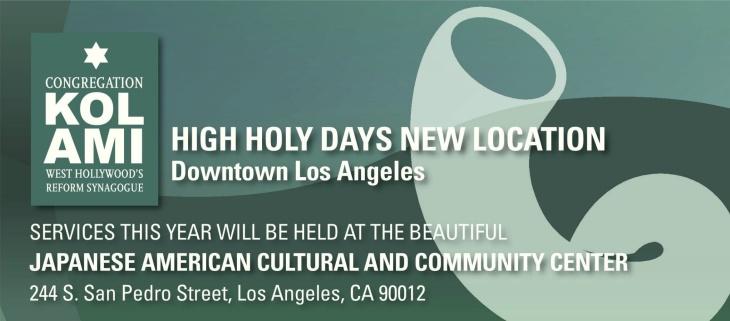 Congregation Kol Ami- High Holy Days Services