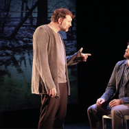 "Tim Cummings, left, and Brian Henderson star in Dan O'Brien's newest play, ""The House in Scarsdale: A Memoir for the Stage."""