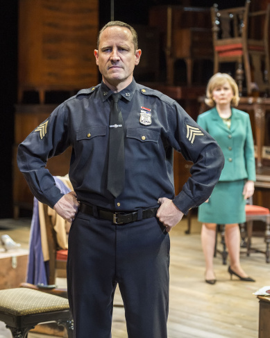 """Kate Burton and Sam Robards in Arthur Miller's classic drama """"The Price"""" at the Mark Taper Forum."""