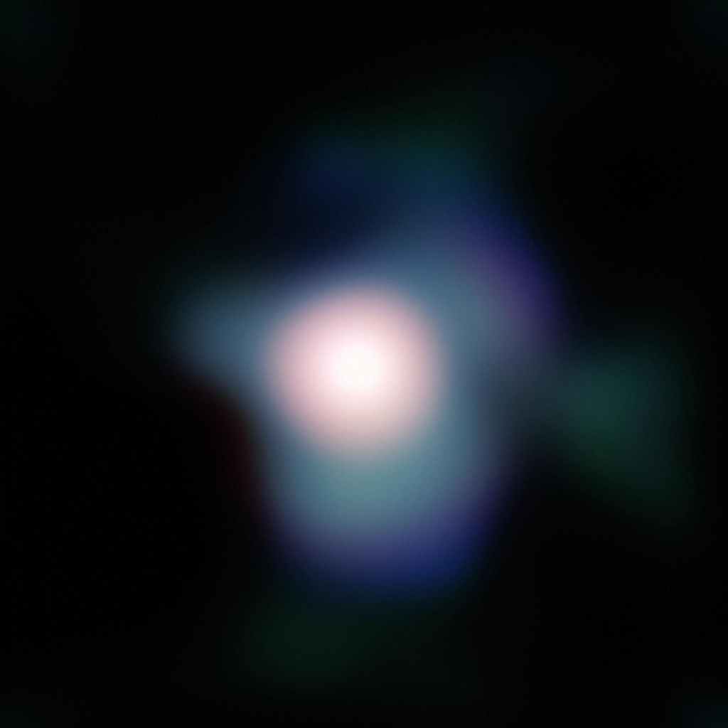 Supergiant star Betelgeuse, in the Orion constellation.