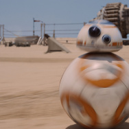 "One of the new robot characters in ""Star Wars: The Force Awakens."""