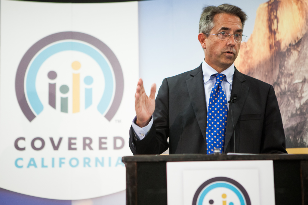 Covered California Executive Director Peter Lee speaks during a press conference in Sacramento on Nov 13, 2013.