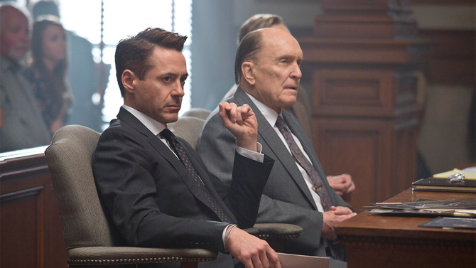 (L to R) Robert Downey Jr. and Robert Duvall star in David Dobkin's