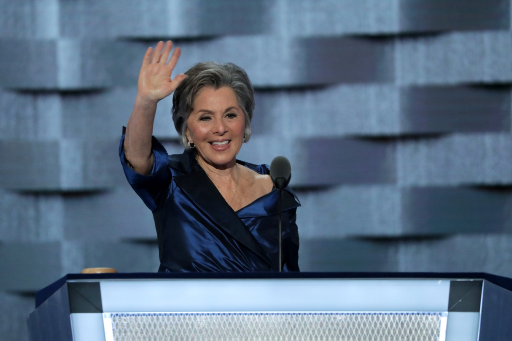 File: Sen. Barbara Boxer (D-CA) delivers remarks on the second day of the Democratic National Convention at the Wells Fargo Center, July 26, 2016 in Philadelphia, Pennsylvania.