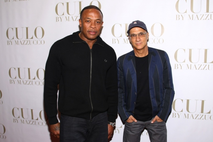 (L-R)  Peter Chou, Dr. Dre and Jimmy Iovine announce the strategic  partnership of HTC and Beats by Dr. Dre on August 10, 2011 in Los Angeles.
