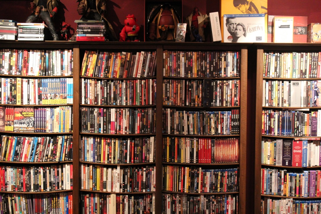 Guillermo del Toro's DVD collection.