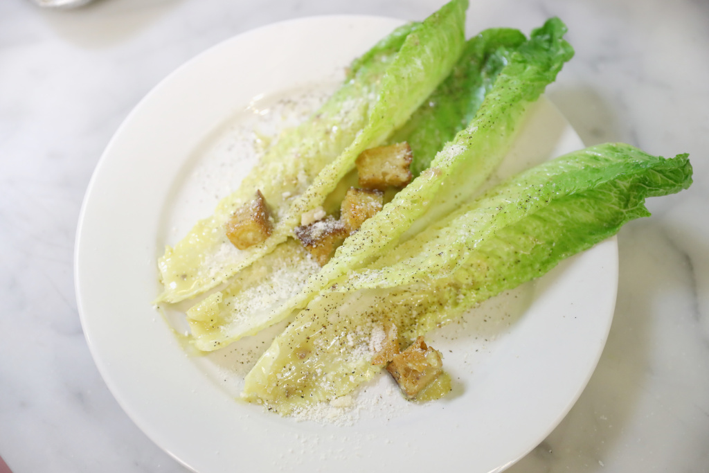 A Caesar salad at chef Michael Lomonaco's The Name Game class at The 8th Annual New York Culinary Experience Presented on April 16, 2016.