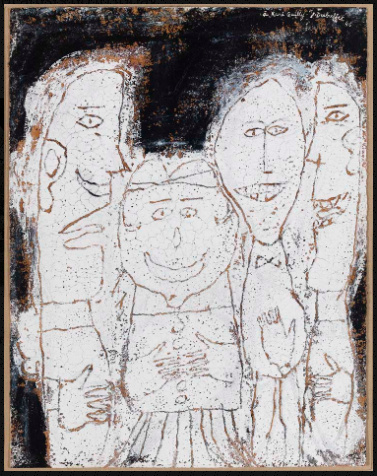 Jean Dubuffet,  Quatre personnages (Four Figures), July 1946.