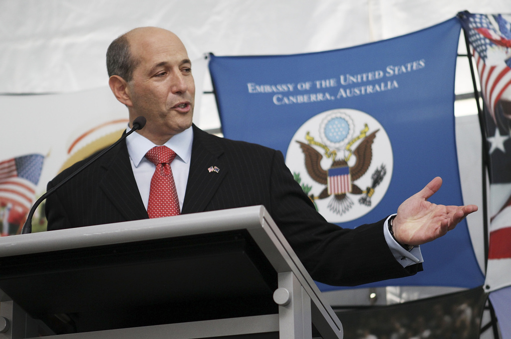 United States Ambassador to Australia Jeff Bleich speaks during a 4th of July celebration event at the US Embassy on July 3, 2013 in Canberra, Australia.