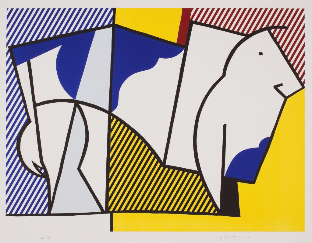 Roy Lichtenstein, Bull III, from Bull Profile Series, 1973. Collection of the Jordan Schnitzer Family Foundation. © Estate of Roy Lichtenstein / Gemini G.E.L.
