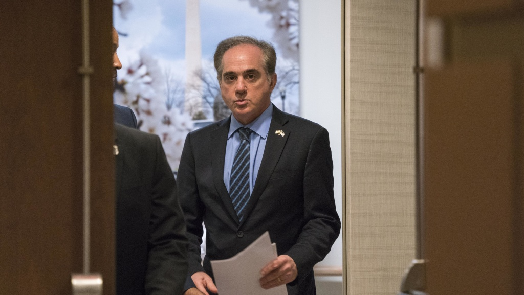 David Shulkin at a news conference in March.
