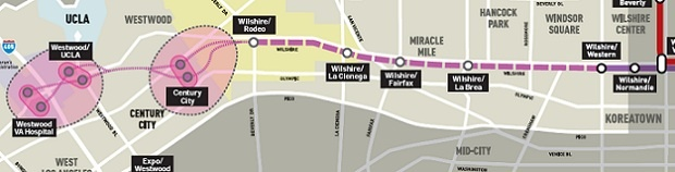 Westside Subway Extension map