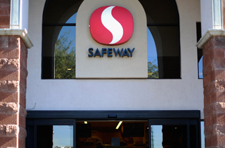 File photo: Shoppers stand in front of the Safeway grocery store on January 15, 2011 in Tucson, Arizona.