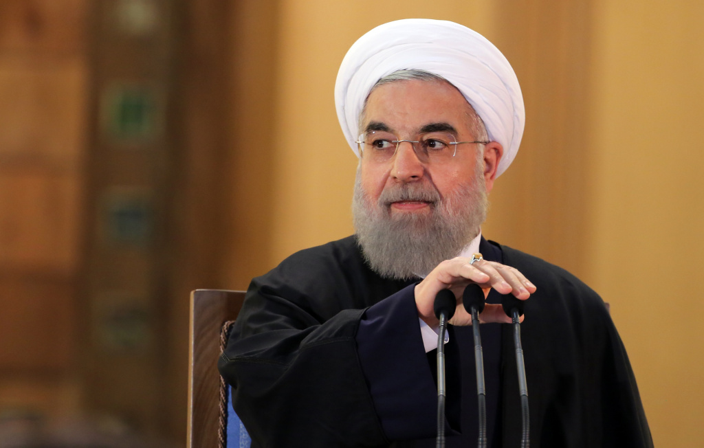 Iranian President Hassan Rouhani prepares to speak during a press conference on January 17, 2016 in the capital Tehran after international sanctions on Iran were lifted.