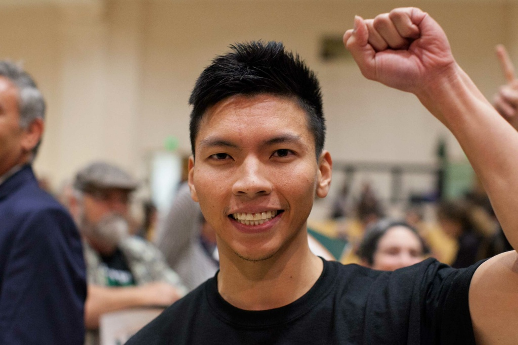Kenneth Mejia at the 34th Congressional District Candidate Forum at Eagle Rock High School on Wednesday, Mar. 23, 2017.