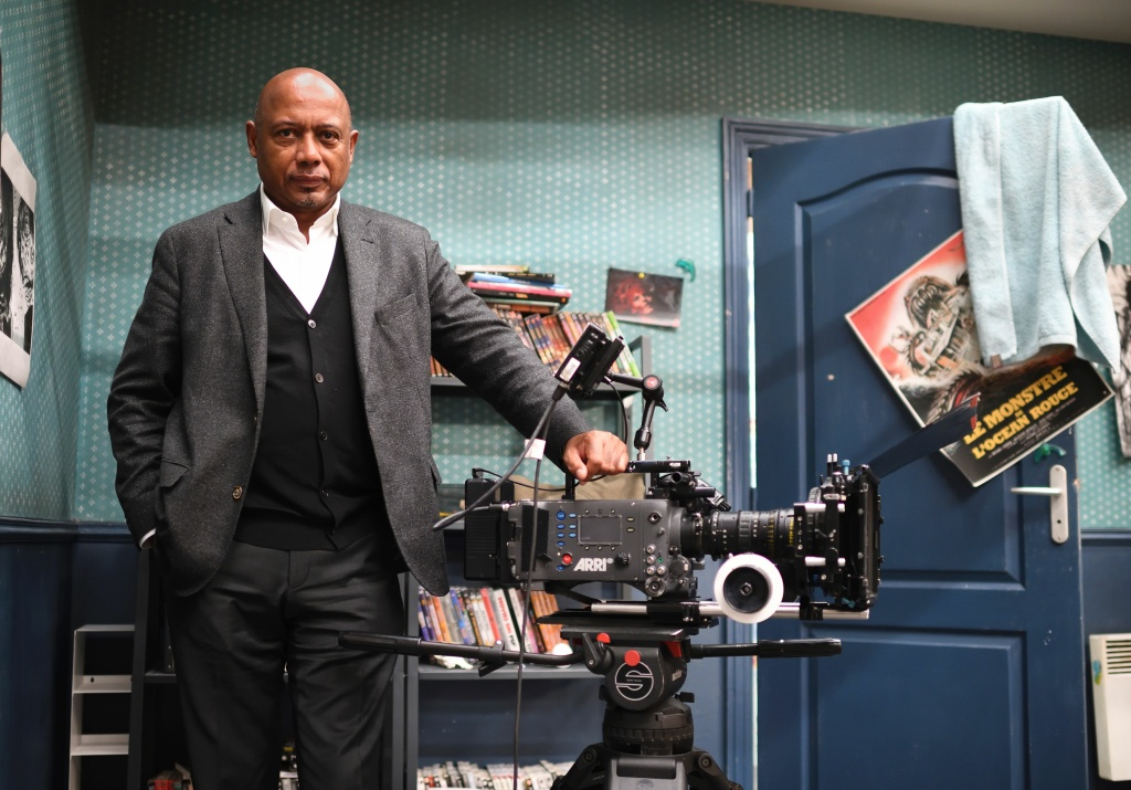 Haitian filmmaker and political activist Raoul Peck poses during a photo session at La Femis Studios on January 20, 2017 in Paris.
