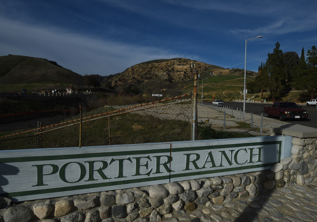 File: The entrance to the SoCal Gas facility where a gas leak that started in October began and forced thousands of residents to flee from Los Angeles suburb Porter Ranch, pictured on Jan. 22, 2016.