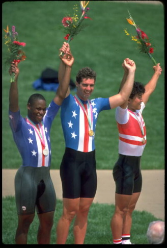 MARK GORSKI USA GOLD 1000 METRE CYCLING SPRINT