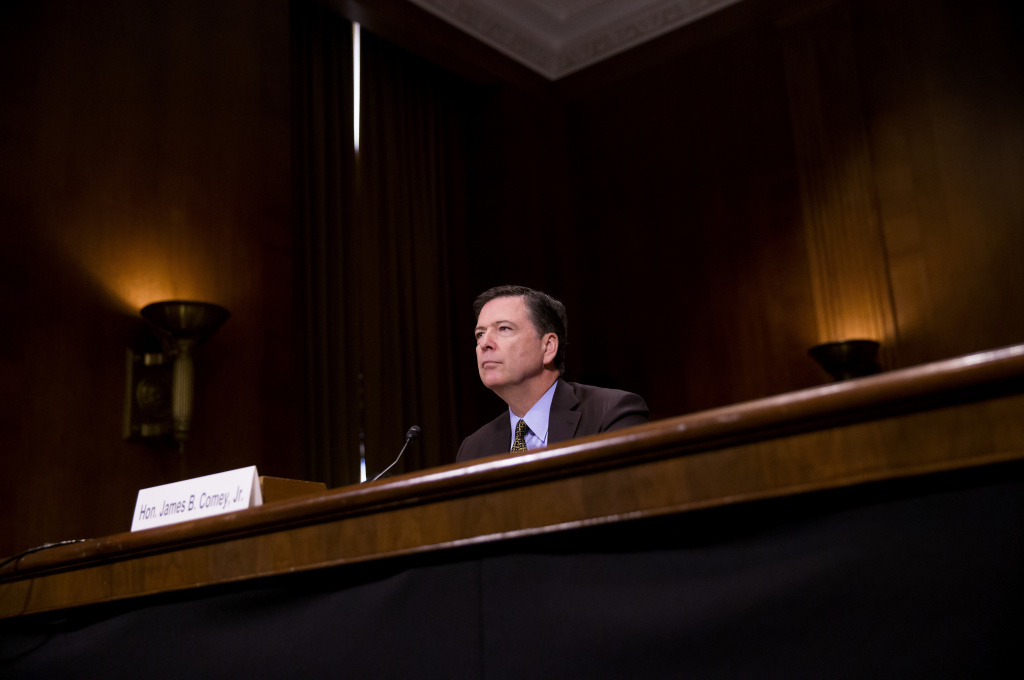 Director of the Federal Bureau of Investigation, James Comey testifies in front of the Senate Judiciary Committee during an oversight hearing on the FBI on May 3. Comey was terminated from his position on Tuesday according to a statement from the White House press secretary.