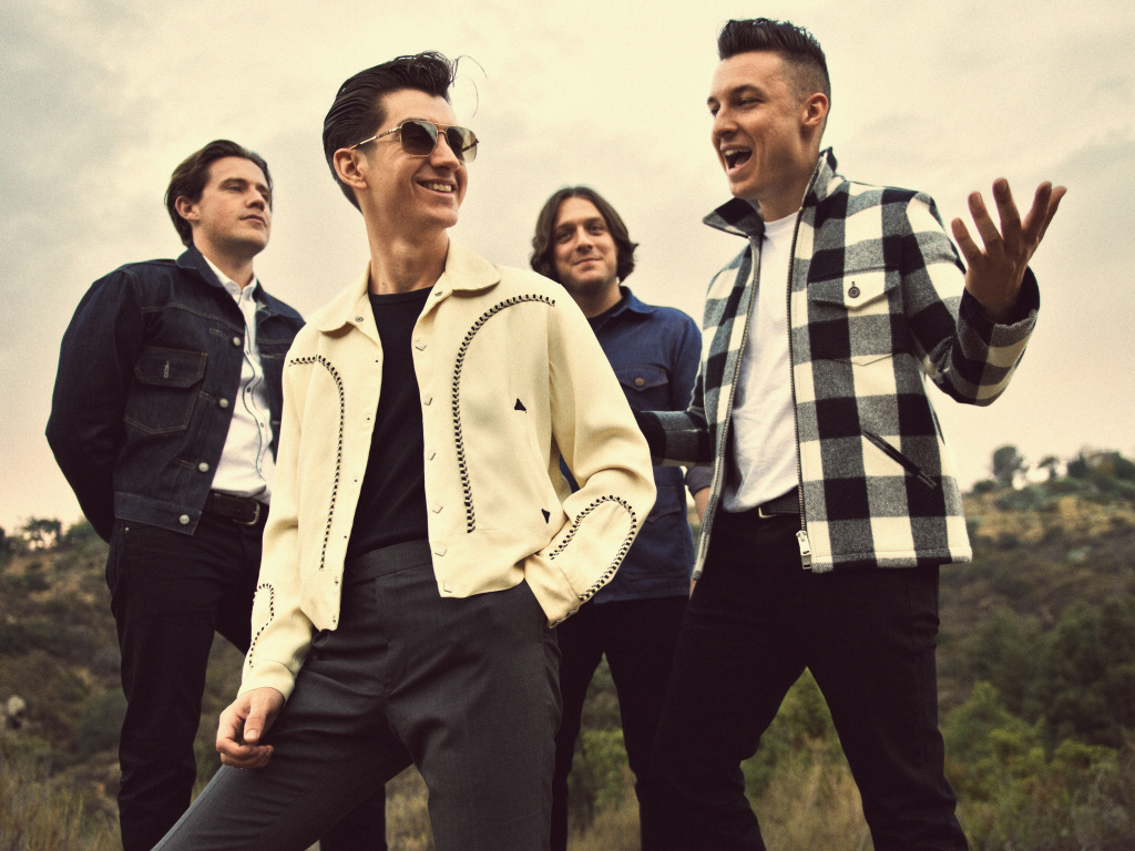 From Left to Right: Jamie Cook, Alex Turner, Nick O'Malley and Matt Helders