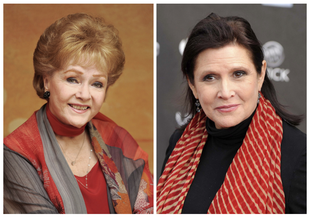 Actress Debbie Reynolds, left, and her daughter, Carrie Fisher. Items belonging to the late mother-daughter duo will be auctioned off beginning Sept. 23.