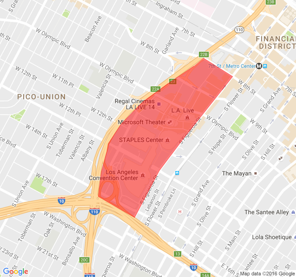 Shaded area shows the location where digital billboards would be allowed under a bill sponsored by Assemblyman Miguel Santiago.